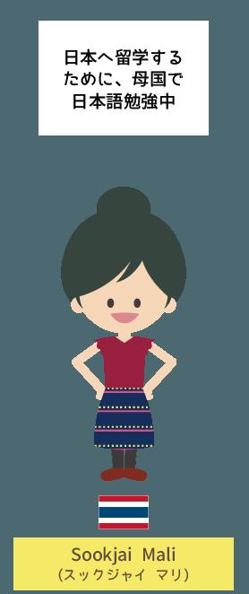 日本へ留学するために、母国で日本語勉強中 | Sookjai Mali(スックジャイ マリ)