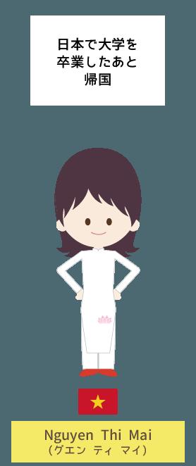 日本で大学を卒業したあと帰国 | Nguyen Thi Mai(グエン ティ マイ)